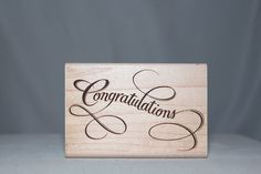 "Elegant ""Congratulations"" A857F Rubber Stampede Wood & Foam Backed Rubber Stamp           http://autopartspuller.com/ Great Sale 50% off entire store!! Copper, Glassware, Wood Crafts, Scrap Booking   Also Find us on:  http://hometownvintage.com http://autopartspuller.com @HomeTownVintage @autopartspuller @preppershowto http://facebook.com/hometownvtg http://facebook.com/AutoPartsPuller"