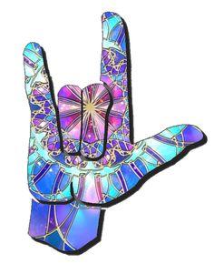 "I Love You Sign Language Clip Art   ASL Clip Art 5-4 I Love You ""ILY"" Handshapes 5"