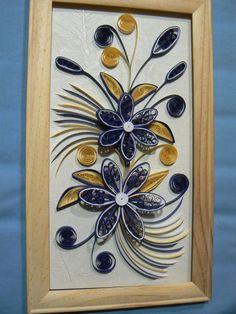Fleurs bleu marine