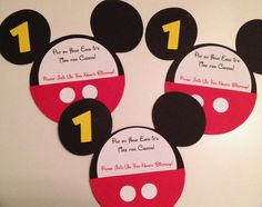 Set of 20 Minnie Mouse or Mickey Mouse by MountainViewCreation, $25.00