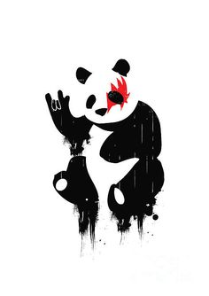 Panda Rocks - Budi Satria Kwan  on Fine Art America
