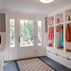 Large Mudroom, Transitional, laundry room, Wright Building Company