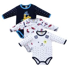 2 Colors stylesilove 3D Mustache Long Sleeve Baby Boy Romper Onesie Clothing Set