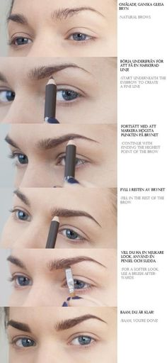 Soft brow look