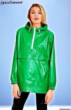 Vinyl Raincoat, Rain Wear, Hooded Jacket, Vinyls, Archive, How To Wear, Plastic, Woman, Vintage