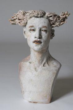 'Testigo Número 27 (Witness Number 27)' by Mexican-born, Denmark-based ceramic sculptor Ana Rosenzweig (b.1956). via La Barbotina