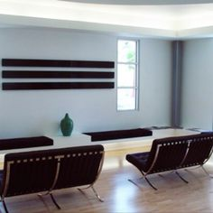 Office Interior: Reception Seating Bench, In El Paso Texas. Designed By  Ameen Ayoub