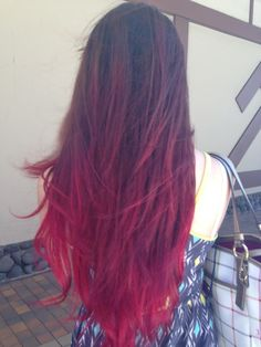 Red ombre hair for the end of summer