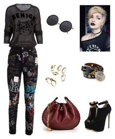 """""""rock"""" by rosy-costa-rc on Polyvore featuring Dolce&Gabbana, WithChic, Marc Jacobs and Alexander McQueen"""