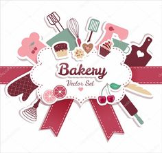 Vetores semelhantes a 74502529 Bakery and sweets border Bakery Logo, Logo Restaurant, Cake Logo Design, Banner Design, Free Vector Images, Vector Free, Fathers Day Banner, Abstract Illustration, Candy Logo