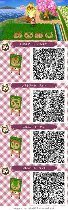 Animal Crossing New Leaf QR codes honey pathways. I don't play New Leaf, but I'll pin this just for fun. Animal Crossing 3ds, Animal Crossing Qr Codes Clothes, Acnl Paths, Motif Acnl, Ac New Leaf, Happy Home Designer, Animal Games, Kawaii, Pathways
