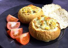 Bread Baking, Meat Recipes, Baked Potato, Mashed Potatoes, Sandwiches, Muffin, Food And Drink, Cheese, Pizza