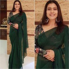 Blouse - Sari - Custom Styled by - Indian Blouse Designs, Fancy Blouse Designs, Kalamkari Blouse Designs, Simple Sarees, Trendy Sarees, Stylish Sarees, Indian Designer Outfits, Indian Outfits, Indian Clothes