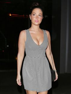 Tulisa Looking Elegant as she wears Low cut Striped Dress Celebrity Outfits, Celebrity Style, Tulisa Contostavlos, Gown Photos, How To Look Pretty, Striped Dress, Pretty Dresses, House, Fashion Outfits