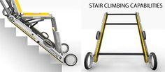 Caterpillar Stretcher Scoffs At Stairs | Yanko Design