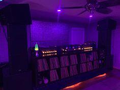 Thanks to Mehdi of Condesa for the custom Allegra Velvet Lounge, Dj Booth, Blue Velvet