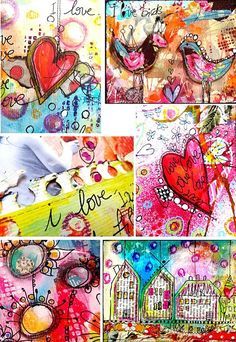 mixed media art by Francoise Melzani