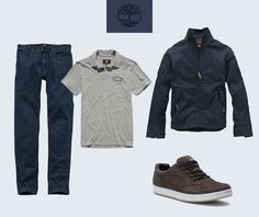 Para curtir o friozinho, nossa dica é: calça jeans Heritage, camisa polo Worn For Life e jaqueta Stratham Bomber com o tênis EK Urban. Com a Timberland até o look básico te mantém estiloso!