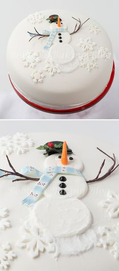 cake decorating classes – How to decorate snowman cake for Christmas holiday step by step DIY tutorial instructions, How to, how to do, diy instructions, crafts, do it yourself, diy website, art project ideas