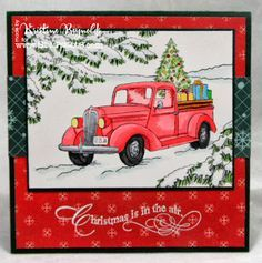 cards made with stampendous truck of gifts - Google Search
