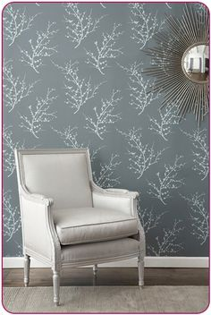 Temporary, removable wallpaper. Super modern too. Great idea!