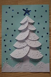 Zimowa, ośnieżona choinka origami z kółeczek Winter Christmas tree origami with circles kids craft kidschristmas Homemade Christmas Cards, Christmas Crafts For Kids, Christmas Projects, Kids Christmas, Handmade Christmas, Holiday Crafts, Christmas Decorations, Christmas Ornaments, Origami Christmas