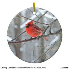 Cheery Cardinal Ceramic Ornament Thank you to the Ohio buyer!