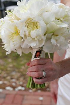 kellysflowers_peony_and_lily-of-the-valley_bridal_bouquet_with_picture_frame