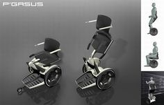 P'gasus Wheelchair Design - 23 Awesome Wheelchair Mods and Designs   Walyou