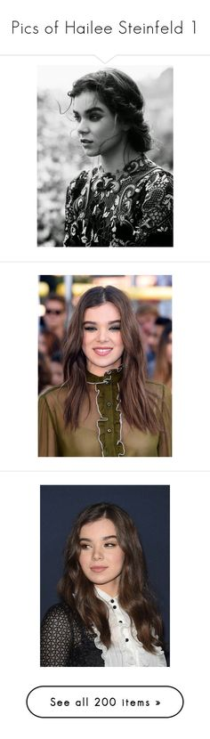 """Pics of Hailee Steinfeld 1"" by dakotahaileetayloradele ❤ liked on Polyvore featuring hailee steinfeld, people, photos, girls, models, characters, delete, instagram, editorials and people - hailee steinfeld"