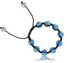 $9.99 - Blue Crystal Bead Bracelet