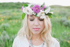 Bohemian flower crown...