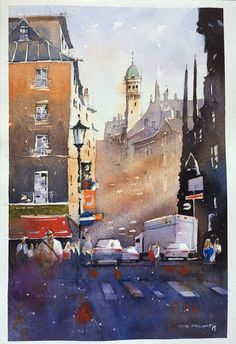 Iain Stewart - demo, with well known watercolor artist added...