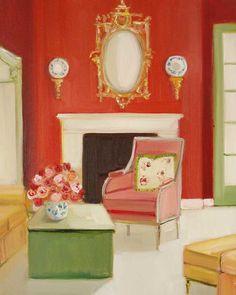 Janet Hill ~ Designer Red Walls