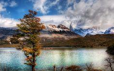 Деревья, Облака, Небо, argentina, Горы