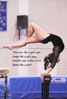 This is very much a gymnastics thing....