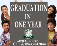 One Sitting Degree for B TECH, M TECH, MBA, MCA