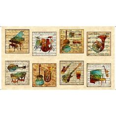 "1 Fabric Panel Winter News The Gatherers Christmas Fabric Panel 23/"" x 44/"""