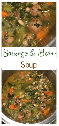 This soup is super flavourful and has a nice spicy sausage, great on a cold fall or winter day!
