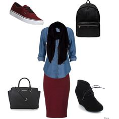 A fashion look from January 2015 featuring Lipsy skirts, Vans sneakers and Yves Saint Laurent backpacks. Browse and shop related looks.