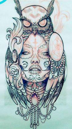 ▷ inspiring owl tattoo ideas and pictures! tatuagem tatuagem cascavel tatuagem de rosa tatuagem delicada tatuagem e piercing manaus tatuagem feminina tatuagem moto clube tatuagem no joelho tatuagem old school tatuagem piercing tattoo shop Rib Tattoos For Women, Girls With Sleeve Tattoos, Best Sleeve Tattoos, Tattoo Sleeve Designs, Flower Tattoo Designs, Tattoo Girls, Flower Tattoos, Tattoo Designs Men, Tattoo Women