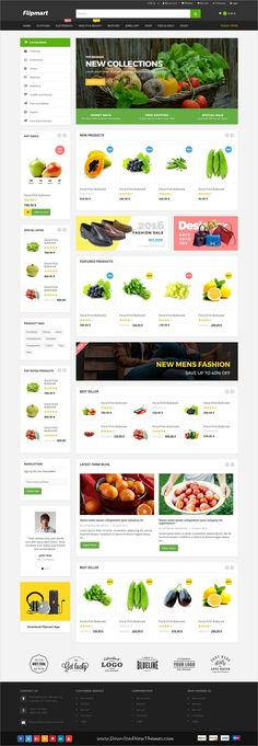 Flipmart is clean and modern design 5+ responsive #WooCommcer #WordPress theme for #grocery shop stunning #eCommerce website download now..