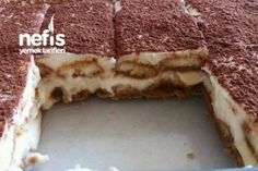 Muzlu Kedi Dilli Tiramisu Tarifi Turkish Kitchen, Food Picks, Tiramisu Cake, Turkish Recipes, Cream Cake, Cupcake Cookies, Yummy Cakes, Delicious Desserts, Bakery