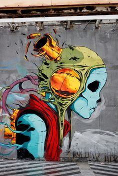 Deih and Laguna collaborate on a new mural in Madrid, Spain