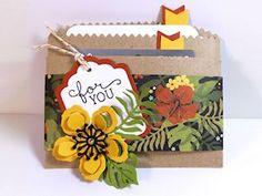 Kraft Bag Gift Card Tutorial - Splitcoaststampers