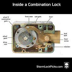 Sargent & Greenleaf 3 Wheel Safe Combination Lock