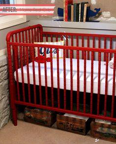 Annie Sloan Chalk Pain baby Cribs   Crib painted with Annie Sloan Chalk paint emperors silk, love love ...