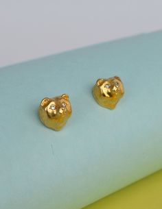 Stud earrings-Bear-Amarone