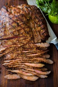 Flank Steak Recipes, Meat Recipes, Mexican Food Recipes, Cooking Recipes, Kitchen Recipes, Mexican Meals, Mexican Dishes, Yummy Recipes, Recipies