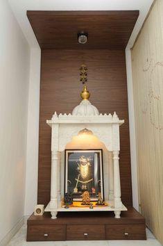Pooja Mandir Design Ideas, Pooja Mandir Designs for Home, Cabinet Designs Living Room Partition Design, Pooja Room Door Design, Room Partition Designs, Design Bedroom, Temple Room, Home Temple, Temple Design For Home, Mandir Design, Pooja Mandir